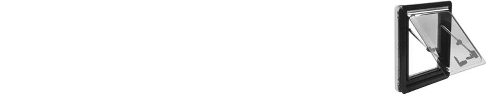 Gekr/ümmt get/önte Doppel-Acrylverglasung Alurahmen Verschiedene Gr/ö/ßen 280 x 380 wamovo Ausstellfenster passend f/ür gew/ölbte Kastenwagen-W/ände